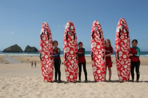 Nippers display their new nipper boards